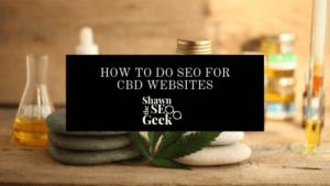 How to do seo for cbd websites